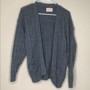 Pendleton gray wool cardigan size M